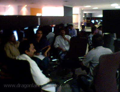 Picture of a meeting with the Indian Animation and FX team